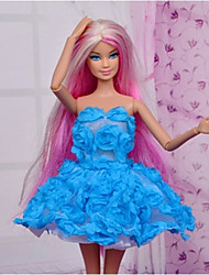 cheap -Doll Dress Party / Evening For Barbiedoll Polyester Dress For Girl's Doll Toy