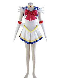 cheap -Inspired by Sailor Moon Sailor Moon Anime Cosplay Costumes Japanese Cosplay Suits Patchwork Dress Headpiece Bow For Women's / Necklace / Necklace