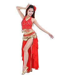 cheap -Belly Dance Skirt Women's Training / Performance Polyester Draping / Tier Natural Skirt