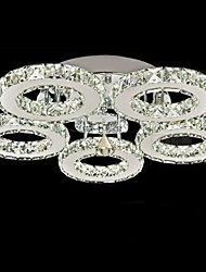 cheap -UMEI™ Flush Mount Ambient Light Electroplated Metal Crystal 90-240V Warm White / White LED Light Source Included / LED Integrated