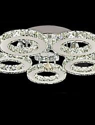 cheap -1-Light UMEI™ 50 cm Crystal Flush Mount Lights Metal Electroplated Modern Contemporary 90-240V