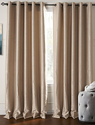 cheap -Blackout Curtains Drapes Living Room Polyester Embossed