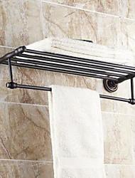 "cheap -Towel Bar / Bathroom Shelf Oil Rubbed Bronze Wall Mounted 630x 265 x 66mm (24.8 x10.43x 2.59"") Brass Traditional"