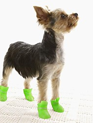 cheap -Dogs Dog Boots / Dog Shoes Rain Boots Waterproof Solid Color Cute For Pets Silicone Rubber PVC Black