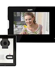 Недорогие -7-дюймовый видео-телефон двери дверной звонок Домофон Kit 1-камера 1-монитор ночного видения
