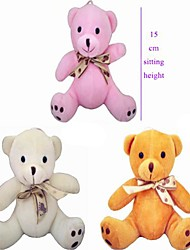 Недорогие -15см Сидя Высота Pure Color Плюшевые галстук-бабочку Медведь Заполненный хлопком PP (разных цветов)