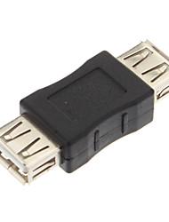 Недорогие -USB конвертер, Женский USB2.0 к USB2.0 женского адаптер конвертер (черный)
