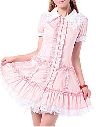 cheap -Princess Sweet Lolita Dress Women's Girls' Cotton Japanese Cosplay Costumes Lace Short Sleeve Lolita
