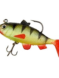 cheap -1 pcs Fishing Lures Soft Bait Bass Trout Pike Silicon Rubber