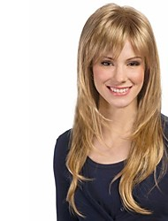 cheap -Long High Quality Synthetic Staight Blonde Hair Wig