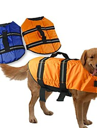 cheap -Dog Life Vest Dog Clothes Solid Colored Orange Blue Mixed Material Costume For Spring &  Fall Summer Men's Women's Waterproof