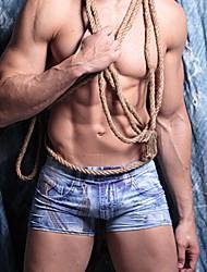 cheap -Men's Print Super Sexy Boxer Briefs 1 Piece Blue