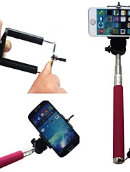 cheap -extendable selfie handheld stick monopod pod for iphone samsung camera with 1 4 inch screw hole pink