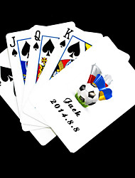 cheap -Personalized Gift White Football Pattern Playing Card