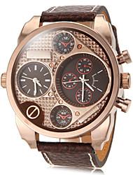 cheap -Men's Classic Vintage Rectangle Dial PU Band Quartz Analog Fashion Watch Cool Watch Unique Watch