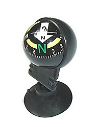 cheap -Mini Directional Traval Car Compass wiht Suction Cup - Black