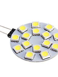 cheap -LED Spotlight 480 lm G4 15 LED Beads SMD 5050 Warm White Cold White 12 V