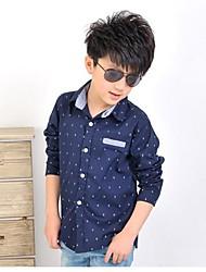 cheap -Kids Solid Colored Long Sleeve Regular Shirt Beige