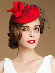 cheap -Plum Hollow Wool Women Ladies Party/Outdoor/Casual Hats/Fascinators With Floral(More Colors)