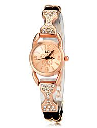 cheap -Women's Luxury Watches Casual Watch Bracelet Watch Quartz Rose Gold Plated Black / White / Purple Imitation Diamond Analog Ladies Elegant - Black Purple Rose