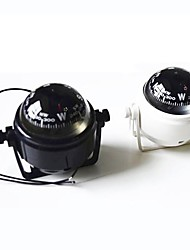 cheap -Marine Plastic Compass with Stand and Boat Caravan Truck 12V LED Light ZW-550--Black/White