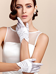 cheap -Satin / Polyester Wrist Length Glove Classical / Bridal Gloves / Party / Evening Gloves With Solid