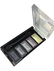 cheap -5 Colors Eyeshadow Palette / Powders Eye Matte / Shimmer / Glitter Shine / smoky Daily Cosmetic