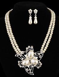 cheap -Women's Jewelry Set Pearl Earrings Jewelry For Party Daily Casual / Necklace