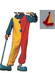 cheap -Burlesque Clown Cosplay Costume Men's Halloween Carnival Festival / Holiday Polyester Men's Carnival Costumes / Hat