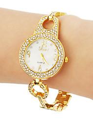 cheap -Women's Diamond Watch Quartz Silver / Gold / Rose Gold Bling Bling - Gold Silver Rose Gold
