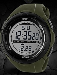 cheap -SKMEI Men's Sport Watch Wrist Watch Digital Watch Digital Rubber Black / Blue / Grey 30 m Water Resistant / Waterproof Alarm Calendar / date / day Digital Fashion - Black Gray Green Two Years Battery