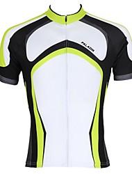 Недорогие -ILPALADINO Муж. С короткими рукавами Велокофты Зеленый В полоску Велоспорт Джерси Верхняя часть Горные велосипеды Шоссейные велосипеды Дышащий Быстровысыхающий Ультрафиолетовая устойчивость