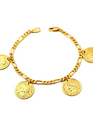 cheap -Women's Charm Bracelet Figaro Ladies Gold Plated Bracelet Jewelry Golden For Daily
