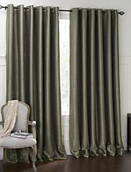 "cheap -Custom Made Blackout Blackout Curtains Drapes Two Panels 2*(72W×84""L) / Embossed / Living Room"