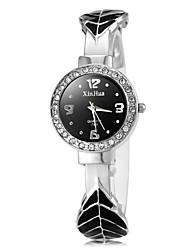 cheap -Women's Diamond Watch Quartz Black / White / Pink Black Purple Pink