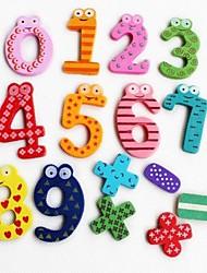 Недорогие -Красочный Забавный Математика Символ Деревянные магниты на холодильник Обучающие игрушки (Количество 0-9 и знак)