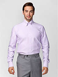 cheap -Men's Wedding Office / Career Dailywear Stylish Standard Fit Shirt - Solid Colored