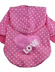 cheap -Cat Dog Hoodie Dog Clothes Stars Rose Cotton Costume For Spring &  Fall