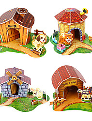 cheap -3D Puzzle Mini Pet House Toy for Kids(Random Color)