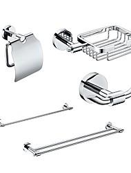 """cheap -YALI.M®,Bathroom Accessory Set Chrome Wall Mounted Soap Basket:W17xH11.5xL5.4cm(W6.6""""xH4.5""""xL2.1"""") Brass Contemporary"""