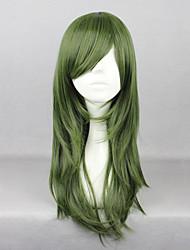 cheap -Cosplay Wigs Kagerou Project Saori Kido Green Anime / Video Games Cosplay Wigs 26 inch Heat Resistant Fiber Women's Halloween Wigs