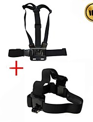 cheap -eelastic chest strap and head strap for gopro black