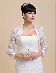 cheap -Coats / Jackets Lace Wedding / Party Evening Wedding  Wraps With