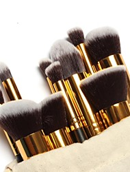 cheap -10pcs Professional Makeup Brushes Makeup Brush Set Gold Tube Free Draw string makeup bag - Blush Brush / Eyeshadow Brush Nylon / Nylon Brush Portable / Travel / Eco-friendly