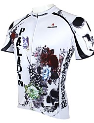 cheap -Men's Short Sleeve Black / White Bike Jersey Top Breathable Quick Dry Ultraviolet Resistant Sports 100% Polyester Clothing Apparel