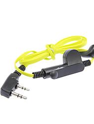cheap -Universal 3.5mm + 2.5mm In-Ear Earphones for K-Connector Walkie Talkie - Green + Black