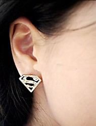 cheap -Women's Stud Earrings - Rhinestone Jewelry Gold For Wedding Party Daily Casual