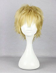 cheap -Cosplay Wigs Kagerou Project Saori Kido Blonde Anime / Video Games Cosplay Wigs 12 inch Heat Resistant Fiber Men's Halloween Wigs