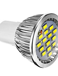 cheap -1pc 6 W LED Spotlight 400 lm E14 GU10 E26 / E27 15 LED Beads SMD 5730 Dimmable Warm White Cold White Natural White 220-240 V 110-130 V