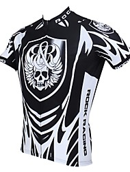 cheap -ILPALADINO Men's Short Sleeve Skull Bike Jersey Top Breathable Quick Dry Ultraviolet Resistant Sports Clothing Apparel